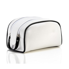 Travel Toiletry Bag Waterproof PU Leather Shaving And Cosmetic Organizer