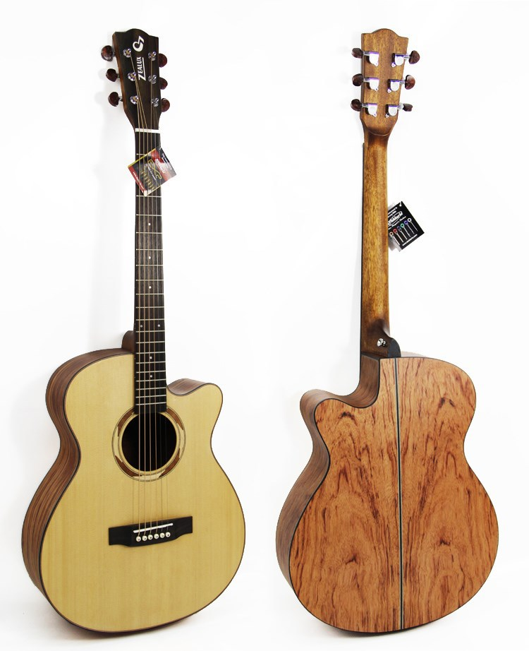 40 inch Soild spruce wood acoustic guitar /zealux hot selling product/ Palisander wood