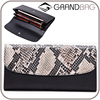fashion high capacity OEM exotic genuine leather long faux python leather wallet lady