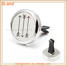 Personalized 3 Arrows or OEM design 316L Stainless Steel Car Air Freshener Aromatherapy Essential Oil Diffuser Locket With Vent