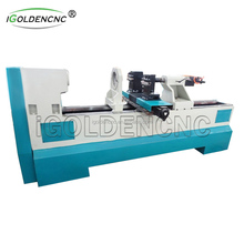 Automatic wood turning baseball bat cnc horizontal wood lathe machine with 2 knives