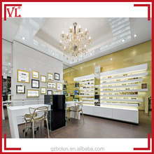 Good!Yellow design mdf optical shop furniture equipment