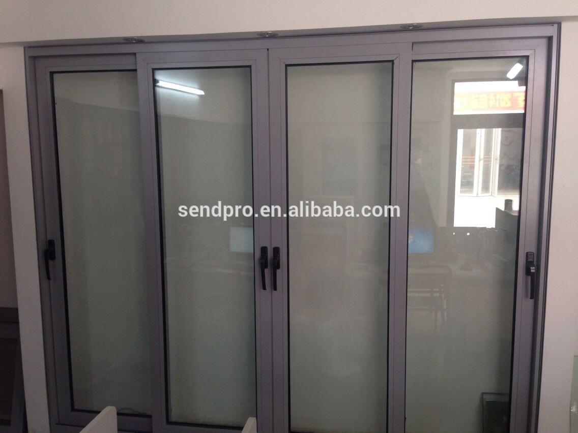 De aluminio con marco de cristal de la puerta corredera de for Correderas de aluminio
