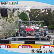 P8.9mm outdoor mesh/curtain LED screen rental for concert stage in Canada