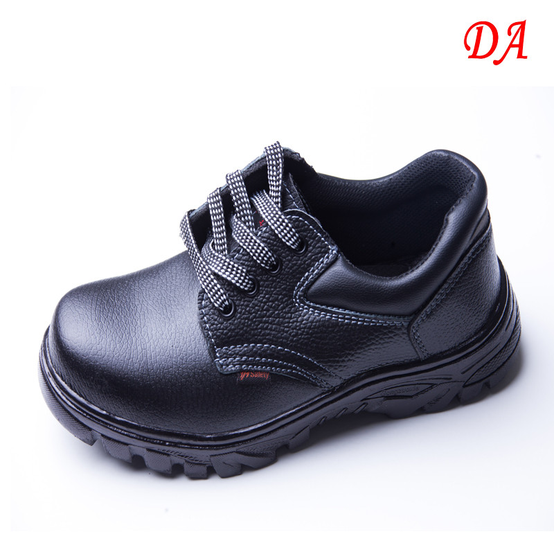 OEM Service Embossed Leather Upper Anti-smashing Constructure Safety Shoes for Men