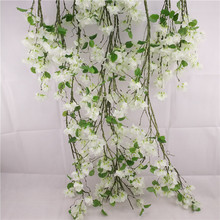 Wedding flower wall decorative drooping silk flowers