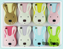 For Cute 3D iphone 5S Rabbit Soft Case Animals Silicone Case For iphone5