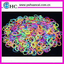 metallic bands silicone latex free colorful rubber band