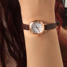 Japanese Movement Chinese Wrist Watch Candy Color Genuine Leather Brand Watch Lady Fashion Watch
