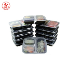 2017 Hot New Products China Suppliers Meal Prep 3 Compartment Lunch Box Food Container With Lids