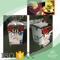 hot sale 3 flavor portable ice cream machine/ soft ice cream cending machine for sale