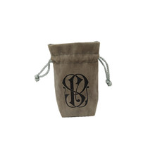 Custom logo printed small drawstring jewelry velvet <strong>bags</strong>