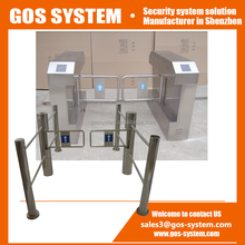 Secure passage factory used turnstile 304 stainless steel swing barrier gate/ door for supermarket