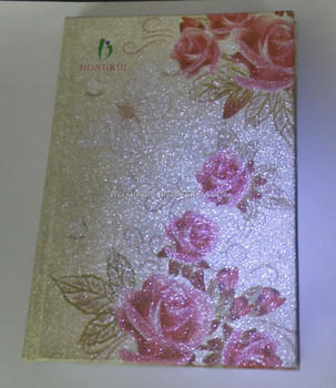 glitter cover notebook