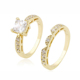 13686-14k gold jewelry couple diamond rings, fashion custom eternity wedding engagement gold finger ring design for women