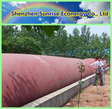 Customized Portable fiberglass food waste biogas digester