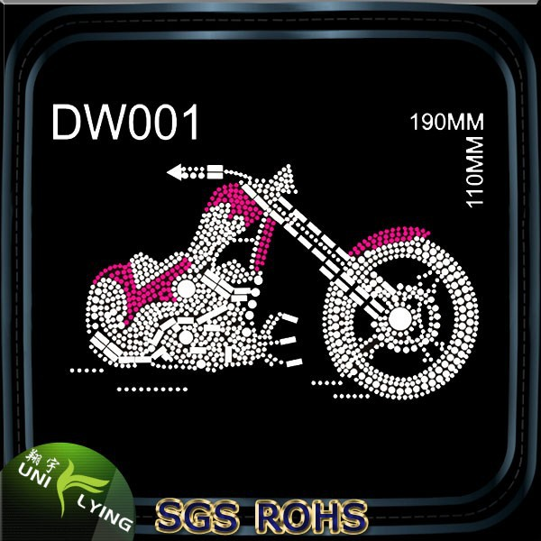 Cool Motorcycle Rhinestone Iron On Transfers