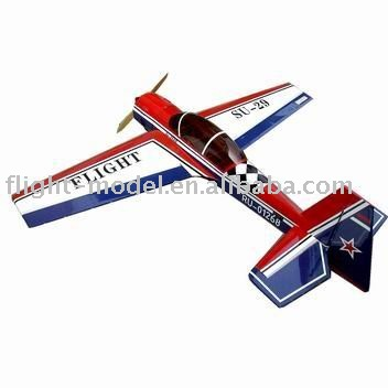 Gas airplane kits SU-29 28CC F136 rc toy plane