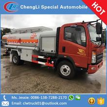 SINOTRUK HOWO 4*2 6500L fuel oil tank truck with tanker for sale