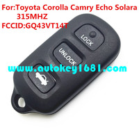 GQ43VT14T 3+1button car remote key 315mhz for toyota camry corolla sienna key