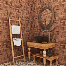 Chinese vintage retro 3D bamboo bamboo grain woven bamboo mat wallpaper