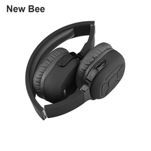 NEW BEE Promotional Products Sports Bluetooth V4.1 Headphone Brown Custom logo noise earmuffs Black for iPhone Samsung