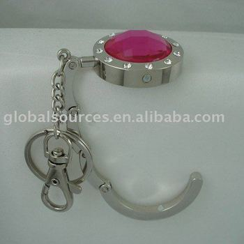 Key Chain Small Folding Crystal Purse Hooks