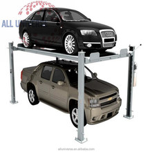 4 post hydraulic parking lift for double cars CE certification car parking lift elevator car parking system