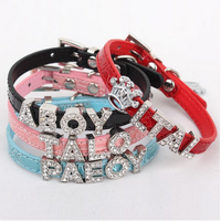 Alloy Buckle 10MM Croc PU Leather DIY Letters Personalized Slide Pet Dog Collars(Price Exclude Slide Charms)