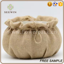 balcony cute lovely pleasant small decorative jute flower pot cover
