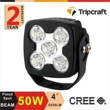 Super Bright Special shape 50w 4 '' IP67 Led Motorcycle Offroad Working Light For cars , auto parts , trucks