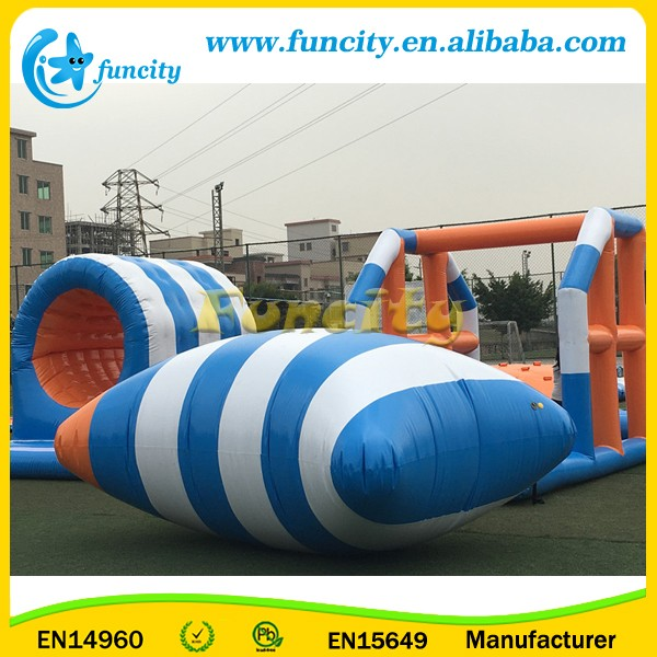 Giant Inflatable Water Park Games With Inflatable Slide