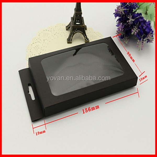 New Design Black Cheap Paper Mobile Phone Cover Packaging Box Wholesale
