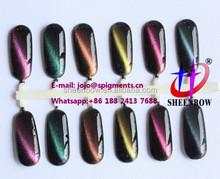 Cat eyes 3D magnetic chameleon pigment powders for nail