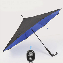 NKYH1001 parasol custom outdoor led warning light reverse umbrella