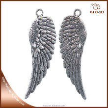 Jewelry Wholesales Angel wings w/holes set charm pendant for lockets and handcraft