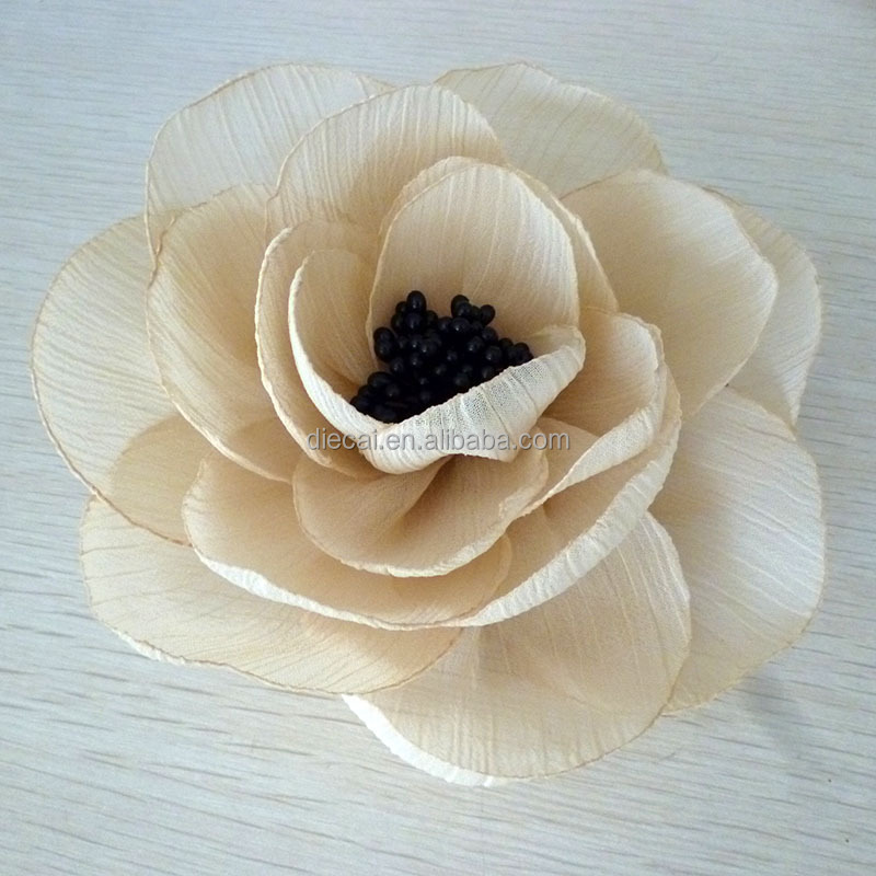 Export popular silk fabric burned <strong>flower</strong> for decoration