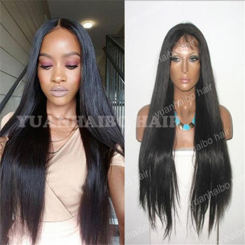 BEST Quality 9A #1b silky straight mongolian hair wig 100% virgin full lace wigs for black women