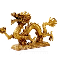 Customed modern garden sculpture bronze cute dragons