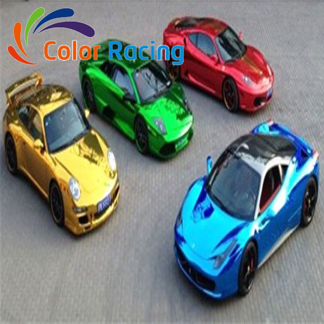 Hot selling car paint protective car chrome mirror vinyl film wrap film sheet in 152cm width