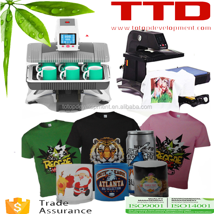 all in 1 function printing machine ,for t-shirts ,cups Pneumatic heat press transfer machine