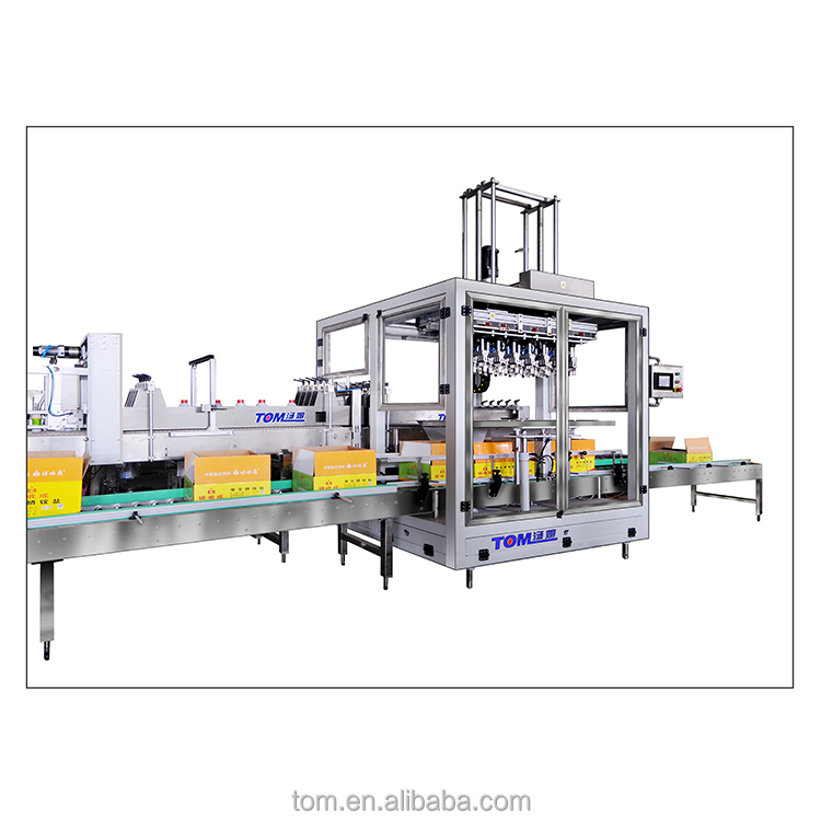 Unique structure large scale used carton box packing machine