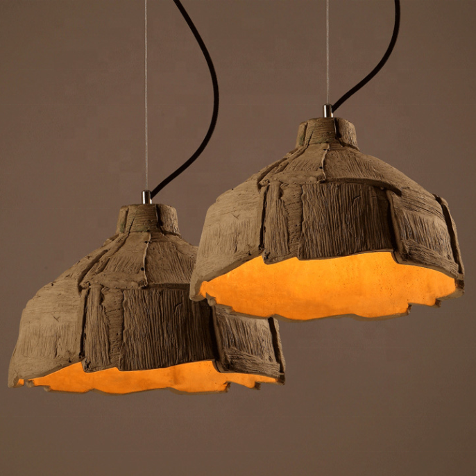 Retro industrial concrete chandelier Loft Decor Pendant Lamp