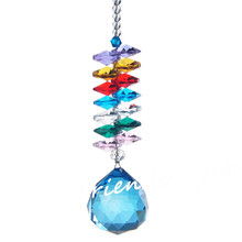 Blue Lighting Ball Accessories Pretty Home Decoration Colorful Crystal Pendants Prisms For Chandelier Parts