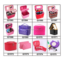 factory sale OEM PU leather cosmetic case bag with mirror