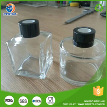 Round and Square Air Freshener Aroma Reed Diffuser Glass Bottle For Home Decor