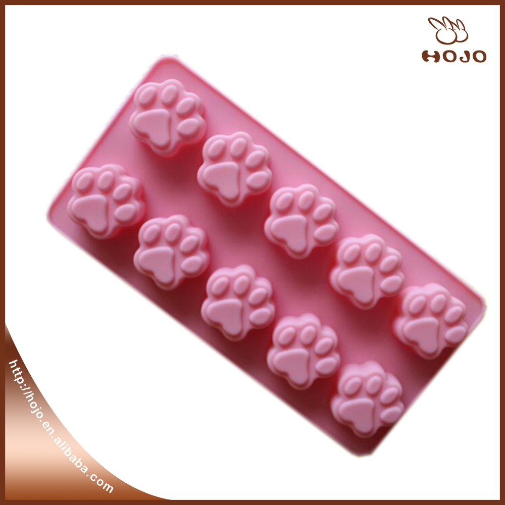 10-cavity Cat Claw shape Cake Mold Soap Silicone Mold Flexible chocolate Mold