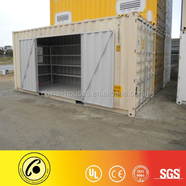 20ft HC door cutting shelves storage container