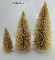 Promotional Gifts golden Fiber Optic Christmas Tree indoor decoration