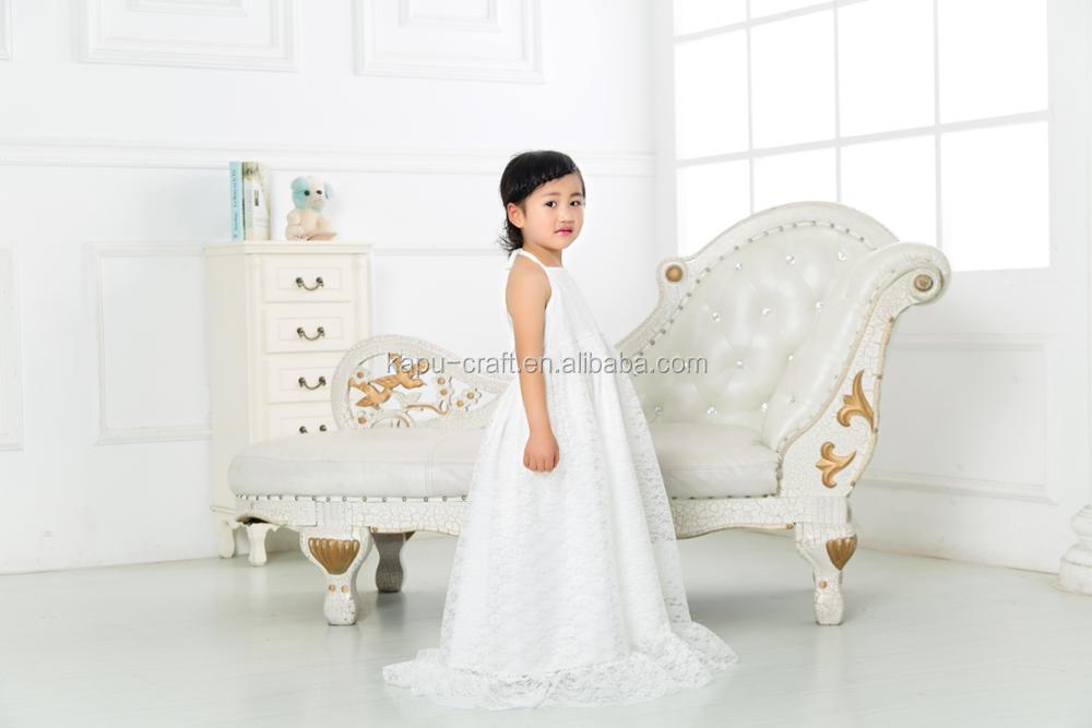 Wholesale Boutique Children Girls Clothes Sleeveless Baby Lace Maxi Dresses For Girls Party Dress